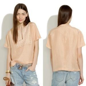 Madewell embroidered sugarsand top - size XS